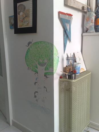 Piccoli esperimenti disegni sui muri officinamezzaluna for Disegni sui muri di casa