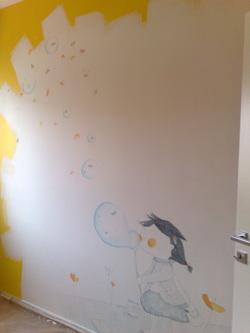Muri illustrati la stanza di giada officinamezzaluna for Disegni sui muri di casa